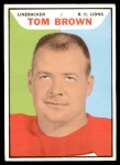 1965 Topps CFL #2  Tom Brown  Front Thumbnail