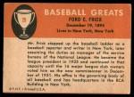 1961 Fleer #29  Ford Frick  Back Thumbnail