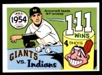 1970 Fleer World Series #51   -  Johnny Antonelli 1954 Giants vs. Indians   Front Thumbnail