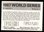1971 Fleer World Series #65   1967 Cardinals / Red Sox   Back Thumbnail