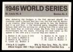 1971 Fleer World Series #44   -  Enos Slaughter 1946 Cardinals / Red Sox  Back Thumbnail