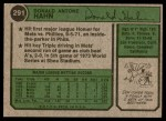 1974 Topps #291  Don Hahn  Back Thumbnail