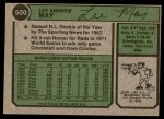 1974 Topps #500  Lee May  Back Thumbnail