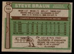 1976 Topps #183  Steve Braun  Back Thumbnail