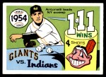 1970 Fleer World Series #51   -  Johnny Antonelli 1954 Giants vs. Indians   Front Thumbnail