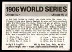 1971 Fleer World Series #4   1906 White Sox / Cubs Back Thumbnail