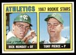 1967 Topps #542   -  Rick Monday / Tony Pierce Athletics Rookies Front Thumbnail