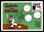 1971 Fleer World Series #65   1967 Cardinals / Red Sox   Front Thumbnail