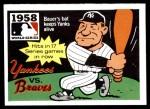 1971 Fleer World Series #56   -  Hank Bauer 1958 Yankees / Braves  Front Thumbnail