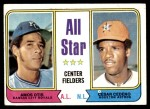 1974 Topps #337   -  Amos Otis / Cesar Cedeno All-Star Center Fielders   Front Thumbnail