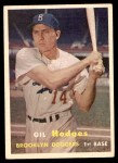1957 Topps #80  Gil Hodges  Front Thumbnail