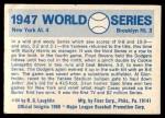 1970 Fleer World Series #44   -  Al Gionfriddo 1947 Yankees vs. Dodgers   Back Thumbnail