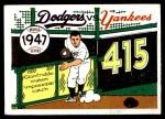 1970 Fleer World Series #44   -  Al Gionfriddo 1947 Yankees vs. Dodgers   Front Thumbnail