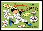 1970 Fleer World Series #33   1936 Yankees vs. Giants Front Thumbnail