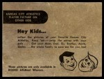 1956 Rodeo Meats  Gus Zernial  Back Thumbnail
