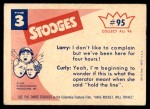1959 Fleer Three Stooges #95   Sorry this Line is Busy Back Thumbnail