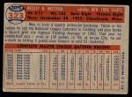 1957 Topps #323  Wes Westrum  Back Thumbnail