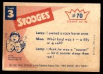 1959 Fleer Three Stooges #70   C'mon you Guys Quit Horsin' Back Thumbnail