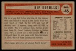 1954 Bowman #46  Rip Repulski  Back Thumbnail