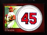2012 Topps   -  Bob Gibson Commemorative Patch Front Thumbnail