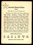 1961 Golden Press #8  Dizzy Dean     Back Thumbnail
