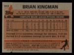 1983 Topps #312  Brian Kingman  Back Thumbnail