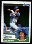 1983 Topps #376  Ken Landreaux  Front Thumbnail