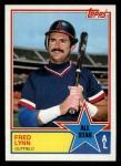 1983 Topps #392   -  Fred Lynn All-Star Front Thumbnail