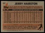 1983 Topps #487  Jerry Hairston  Back Thumbnail