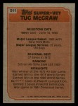 1983 Topps #511   -  Tug McGraw Super Veteran Back Thumbnail