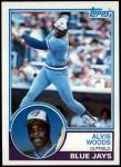 1983 Topps #589  Alvis Woods  Front Thumbnail