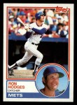 1983 Topps #713  Ron Hodges  Front Thumbnail