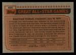1983 Topps #403   -  Tim Raines All-Star Back Thumbnail