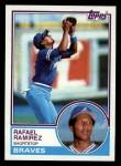 1983 Topps #439  Rafael Ramirez  Front Thumbnail