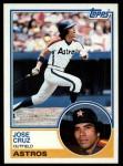 1983 Topps #585  Jose Cruz  Front Thumbnail