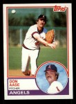 1983 Topps #599  Don Aase  Front Thumbnail