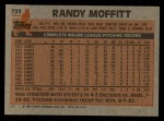 1983 Topps #723  Randy Moffitt  Back Thumbnail