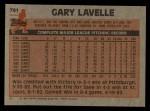 1983 Topps #791  Gary Lavelle  Back Thumbnail