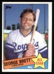 1985 Topps #703  George Brett  Front Thumbnail