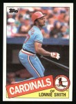 1985 Topps #255  Lonnie Smith  Front Thumbnail