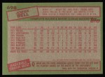 1985 Topps #698  George Bell  Back Thumbnail