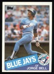 1985 Topps #698  George Bell  Front Thumbnail