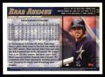 1998 Topps #43  Brad Ausmus  Back Thumbnail