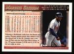 1998 Topps #70  Marquis Grissom  Back Thumbnail