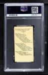 1909 E102  Bob Bescher  Back Thumbnail