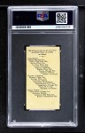 1909 E102  Dave Shean  Back Thumbnail