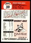 1953 Topps Archives #39  Eddie Miksis  Back Thumbnail