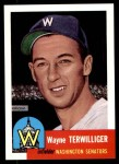 1953 Topps Archives #159  Wayne Terwilliger  Front Thumbnail