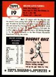 1953 Topps Archives #19  Mel Parnell  Back Thumbnail