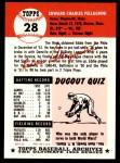 1953 Topps Archives #28  Eddie Pellagrini  Back Thumbnail